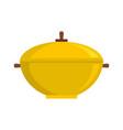 big saucepan icon flat style vector image vector image