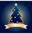 blue christmas tree vector image