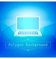 blue polygon abstract vector image vector image