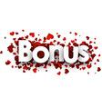 Bonus 3d sign