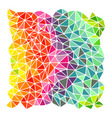 Bright rainbow triangles background vector image vector image