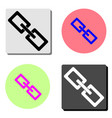 chain flat icon vector image