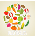 color vegetables Healthy lifestyle Circle design vector image vector image