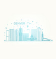 colorado denver city skyline architecture vector image vector image