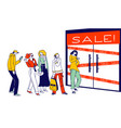 customer characters shopping in store sale
