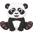 cute little panda sitting isolated vector image vector image