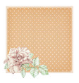 dotted rose background with ros vector image vector image