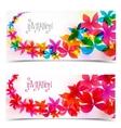Floral color design vector image vector image