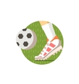 Football Round Sticker vector image vector image