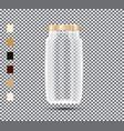 glass jar on transparent background vector image vector image