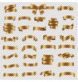 golden ribbon collection isolated transparent vector image