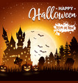 halloween background with haunted church vector image