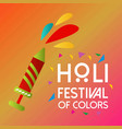 happy holi festival the festival of colors vector image