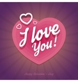 Happy Valentines Day card with heart shapes in vector image vector image