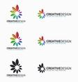 harmony logo template vector image vector image