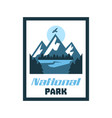 logo card emblem sticker national park winter vector image