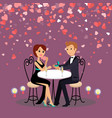man proposal marriage with ring to woman vector image vector image