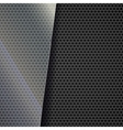 Metallic mesh background vector image vector image