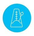 Metronome line icon vector image vector image