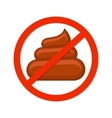 No pooping sign isolated white vector image vector image