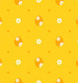 Orange easter seamless pattern with polka dots vector image vector image