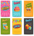 Party Comic Posters vector image vector image