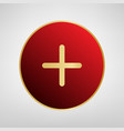 positive symbol plus sign red icon on vector image vector image