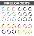 Preloaders Buffering And Loading Icon Set vector image