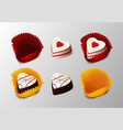 realistic tasty desserts collection vector image vector image
