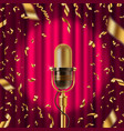 retro microphone on stage in spotligh vector image vector image