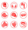 safety infographics individual protective tools vector image vector image
