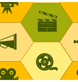 Seamless background with cinema symbols vector image vector image