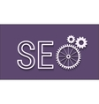 SEO abstract icon vector image