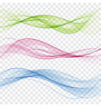 set of abstract color wave color smoke wave vector image vector image