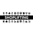 shoplifting minimal infographic banner vector image vector image