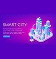 smart city technology vector image vector image