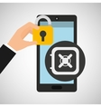 smartphone box safety money security vector image