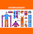 snowboarding skiing sport equipment snowboarder vector image vector image