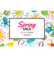 spring sale poster template with colorful flower vector image vector image
