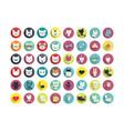 stylized animal avatar set vector image vector image