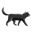 stylized going cat vector image vector image