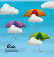 summer and rain season vector image vector image