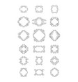 sunburst frame collection vector image vector image