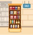 supermarket sale stand vector image