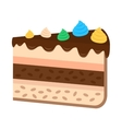 sweet cake in flat style vector image vector image