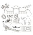 symbols of sri lanka icons set vector image vector image