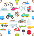 Transport pattern stickers vector image vector image