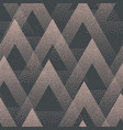 trendy seamless pattern stippled triangles vector image