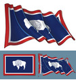 waving flag of the state of wyoming vector image vector image