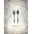art restaurant menu vector image